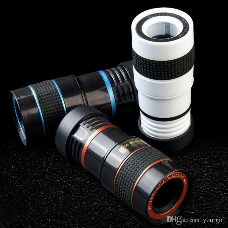HOT Camera Lens 8x Telephoto Lens Fisheye Wide Angle Macro Lens for iPhone 7 6s plus Samsung Galaxy S8 S7 Edge