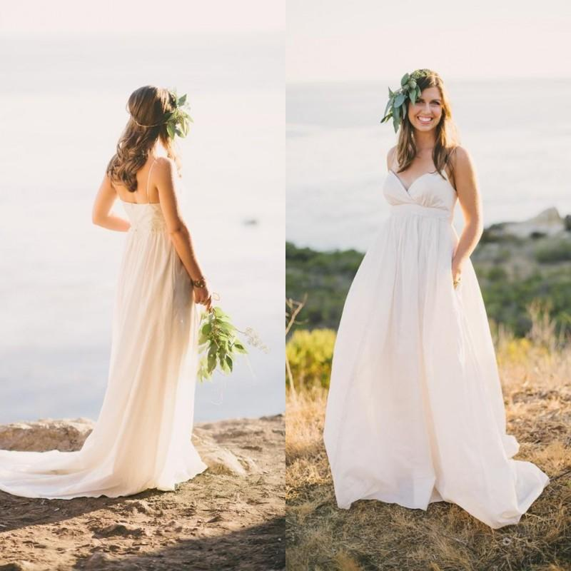 Affordable Maternity Wedding Gowns: Discount Sexy Maternity Wedding Dress Floor Length Sweep