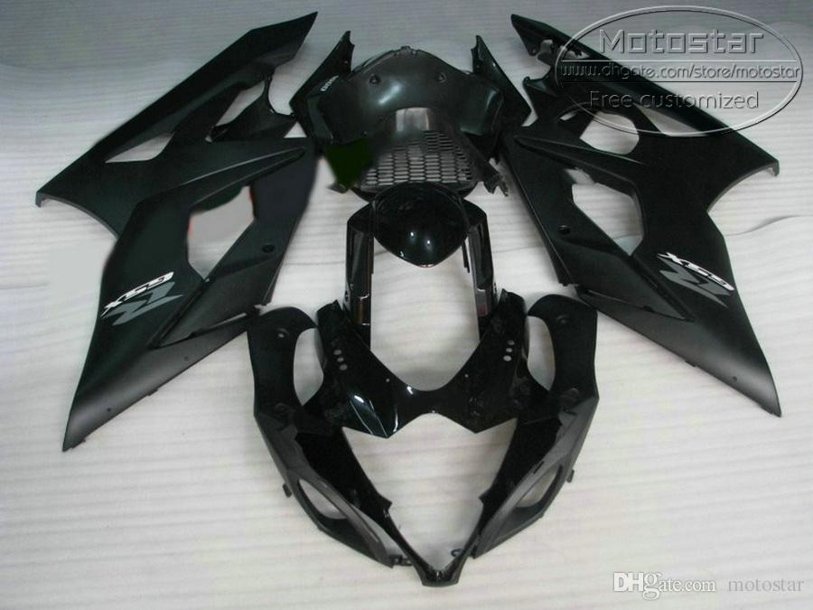 Высокое качество обтекатель комплект для SUZUKI GSXR1000 2005 2006 матовый черный обвесы K5 K6 05 06 GSX-R1000 обтекатели набор QF55