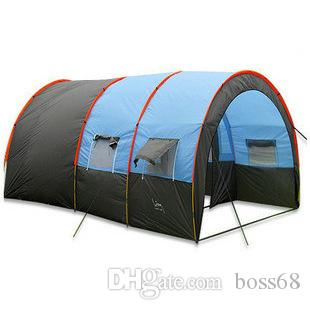 Outdoor 5 6 8 10 Persons Family Camping Hiking Party Large Tents 1 Hall 2 Room Waterproof Tunnel Tent Event Beach Women Shelter Cat And Dog