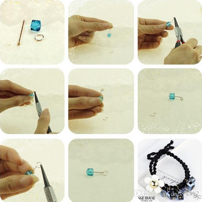 8mm Square Crystal Glass Diamonds Beads For Scrapbooking Craft DIY Hair Clip Fashion Accessories