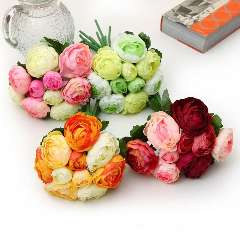 wedding bouquets for cheap 2015 cheap artificial wedding bouquets for bridesmaids 8511