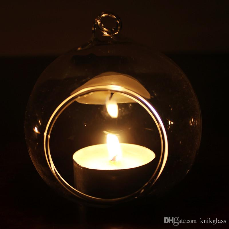 /box Tea Light Holder/80MM Glass Air Plant Terrariums,Hanging Glass Orb Candle Holder For Wedding Candlestick/Garden Decor/Home Decor