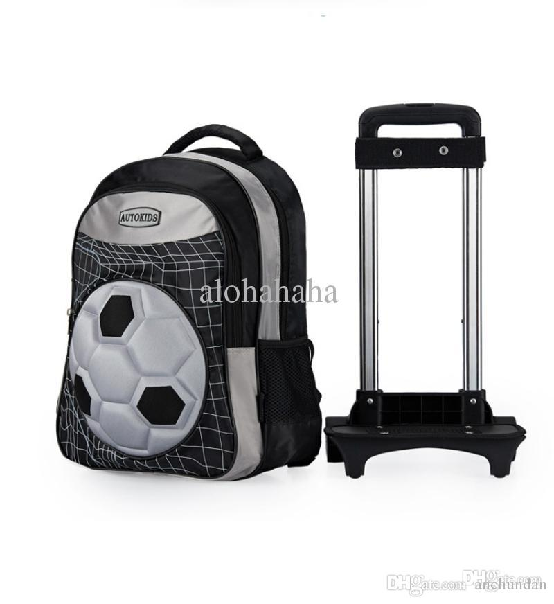Wholesale 16 Inch Kids Luggage On Wheels Football Polyester ...