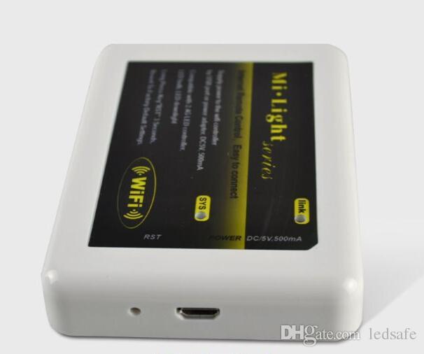 Hub de controlador WIFI de la serie MiLight para RGB RGBW RGBWW Luces LED Tiras de bombillas Lámpara Mi Light 12V 24V con cable USB Envío vía Express