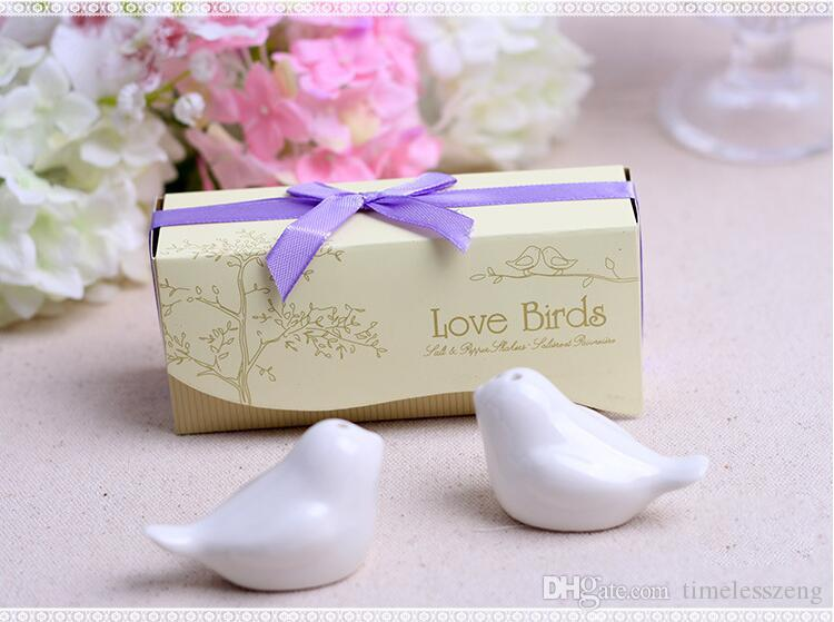 "Love Birds In The Window"" Ceramic Pepper Shakers lLove Birds Cruet Condiments Wedding Favors Party Gift Hot Sell"