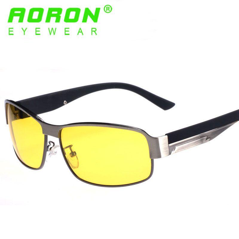 7a5f1de885 Aoron Men Polarized HD Sunglasses Night Vision Goggles New Brand Anti Glare  Driving Eyeglasses Fashion Glasses With Original Box Accessories Online ...