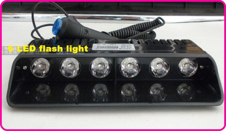 高品質DC12V 6 * Geniii 1W明るいLEDフラッシュライト、車のフロントガラスダッシュライト、非常灯、警察の救急車警告ライト11フラッシュ