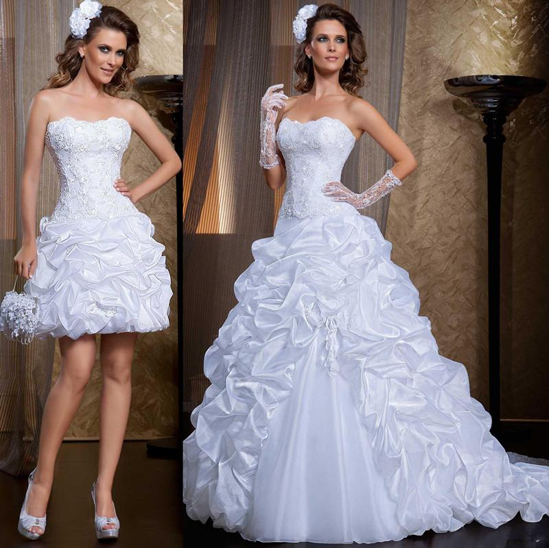 Beaded Wedding Dress With Detachable Train: Discount 2015 Vintage Lace Wedding Dresses With Detachable