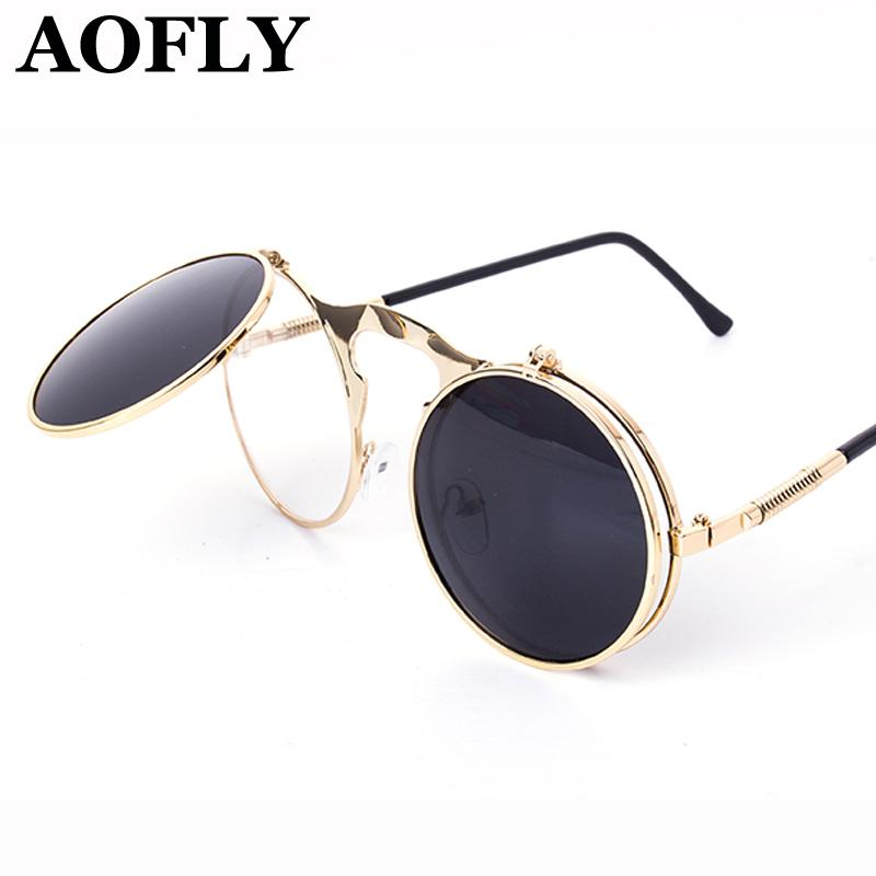 VINTAGE STEAMPUNK Sunglasses Round Designer Steam Punk Metal OCULOS De Sol  Women COATING SUNGLASSES Men Retro CIRCLE SUN GLASSES Cat Eye Sunglasses  Round ... 1e15816bc9