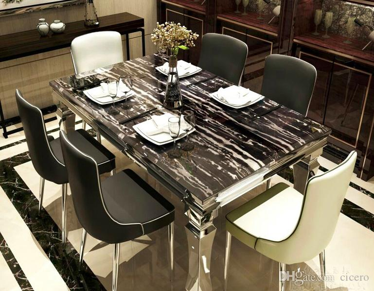 2019 6 Chairs Black And White Marble Dining Table Set Dining Room Furniture  Yayoom One Stop Solution From Cicero, $702.52 | DHgate.Com