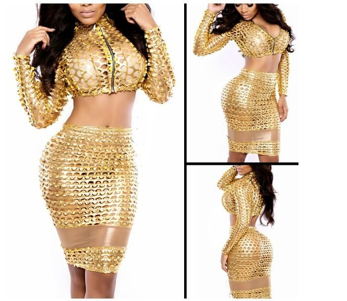 Gold club dresses sexy