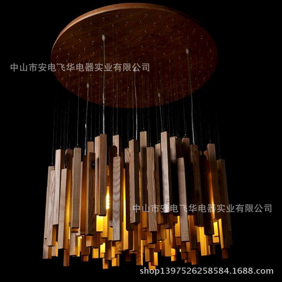 discount huayu wooden chandelier wooden roads meteor art designer