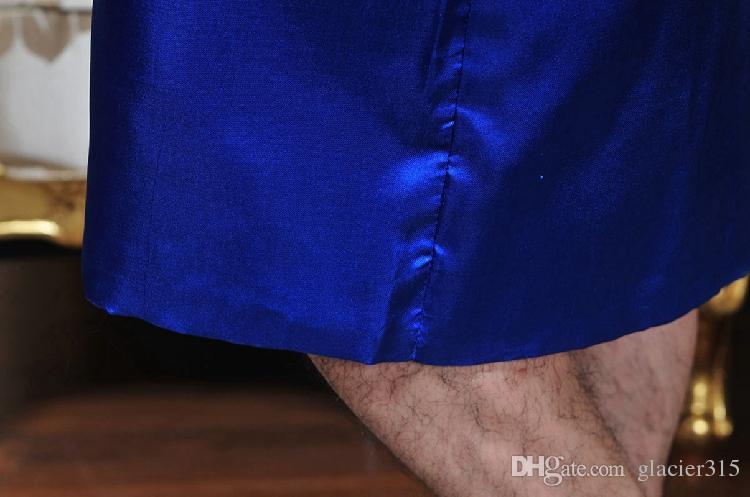Shanghai Story Chinese Men's Robe Embroidery Kimono Bath Gown Dragon men sleepwear 5 colours Size M --XXXL
