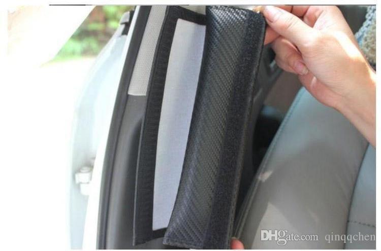 탄소 섬유 안전 벨트 커버 패드 어깨 패드 FORD KIA 미니 모모 세인트 Sti Volvo Car 스타일 /