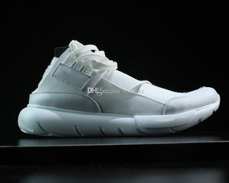 watch 3b847 ba8ee Acheter Avec Boîte Y 3 QASA Haute Hommes Et Femmes Tout Blanc Chaussures De  Course, Nouvelle Arrivée Femmes Y3 Bottes Sneaker Casual Chaussures Taille  36 45 ...