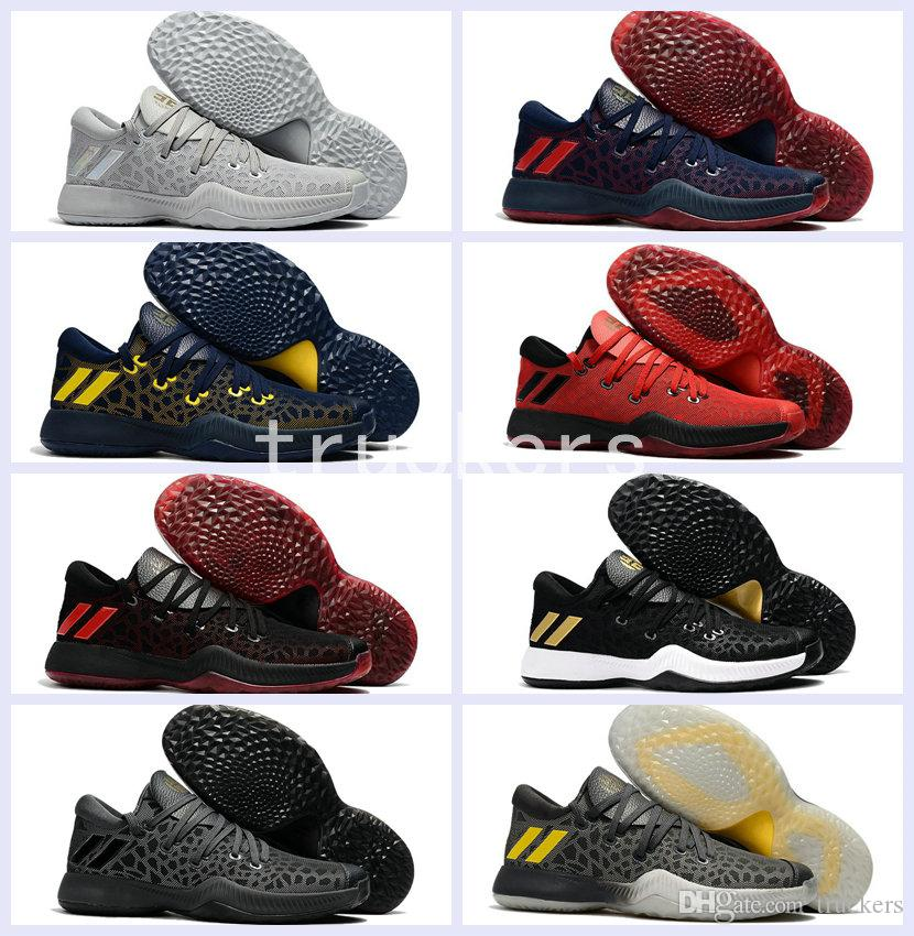 74f7eacb6d99 2017 New Harden Vol. 2 Mens Low Basketball Shoes Black Red Gray Fashion James  Hardens Sports Basket Ball Sneakers Size 40 46 Basketball Gear Basketball  ...