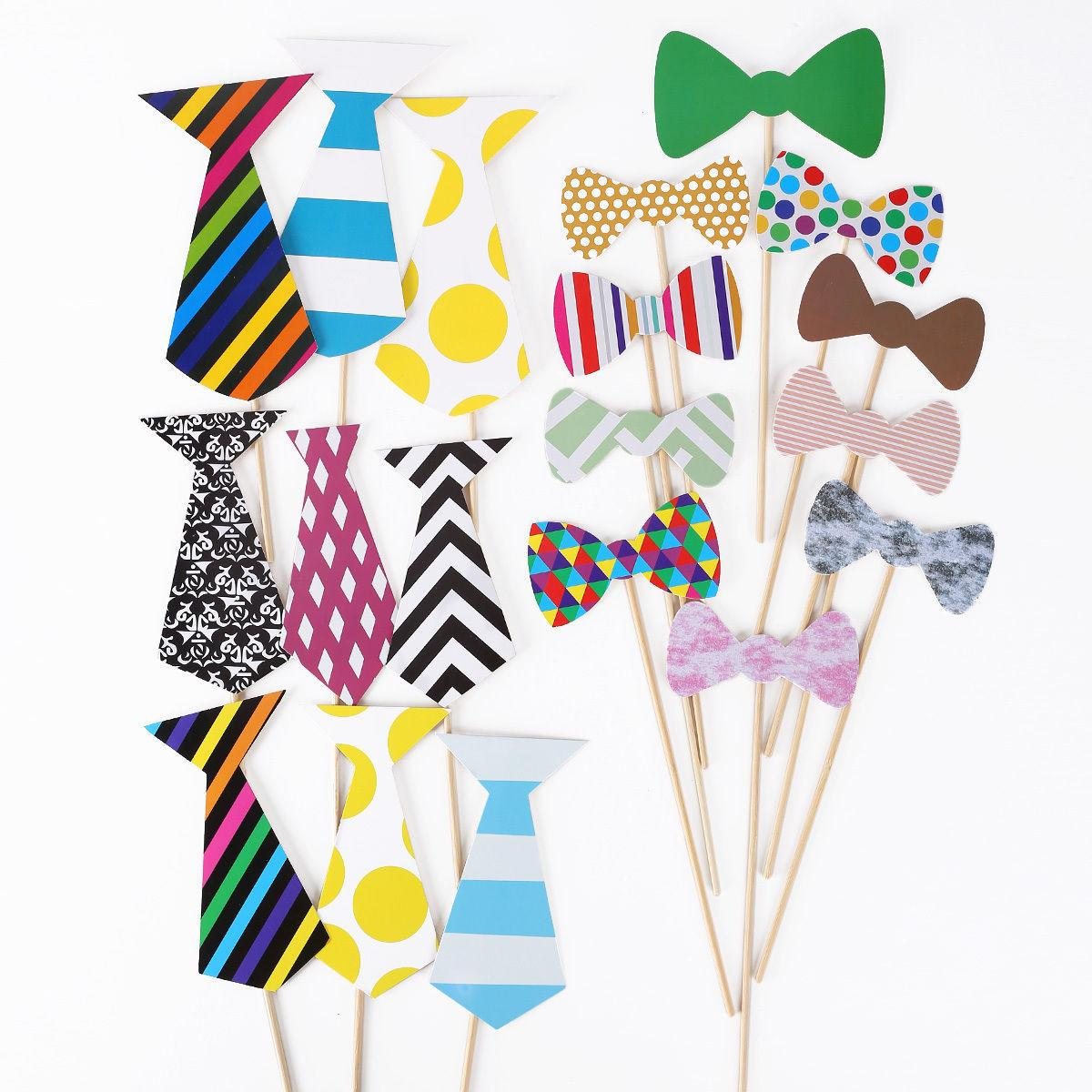 New Arrival Wedding Party Photo Booth Props Set of 76 Mustache On A Stick Photobooth Funny Masks Bridesmaid Gifts Wedding Xmas decoration