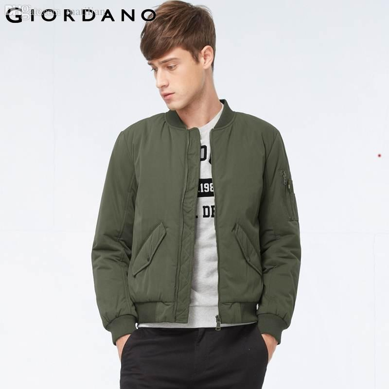 Fall Giordano Men 2015 Brand Fashion Casual Thick Quilted Bomber ...