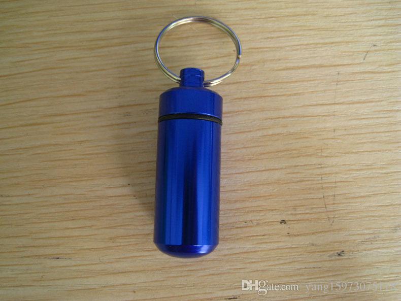 AOTU Kit de Viagem Ao Ar Livre Chaveiro Liga Tablet Pílula Medicina Box Caso Titular Garrafa Recipiente Chaveiro 116.