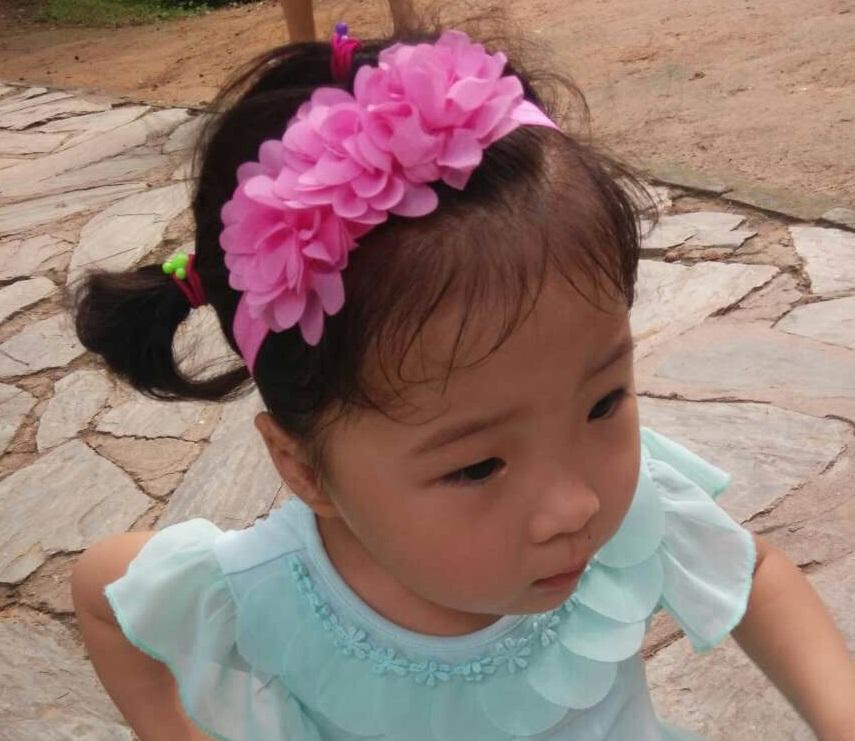 1c3608e5c6296 Wholesales !Children Kids Baby Girls 3 Chiffon Flowers Headband ...