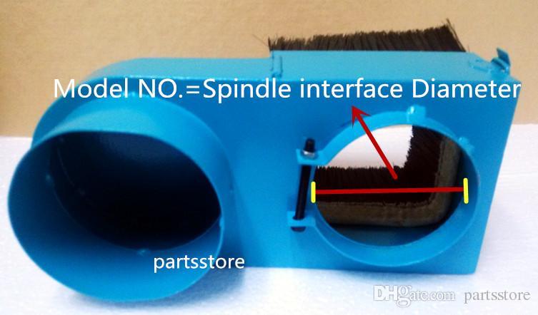 65mm / 80mm / 90mm / 100mm / 125mm Broche Couvercle anti-poussière Aspirateur Collecteur de poussière pour pièces de routeur cnc