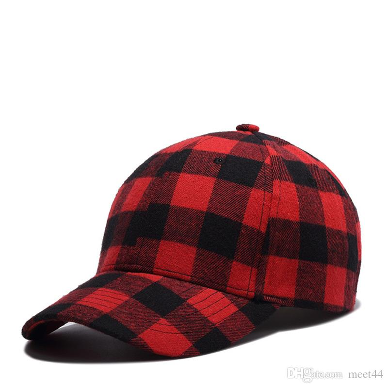 Cotton Black And Red Plaid Cap Men Korean Hat Baseball Cap Fashion Summer 3  To Sell Army Hats Custom Caps From Meet44 33cd9cfda3a