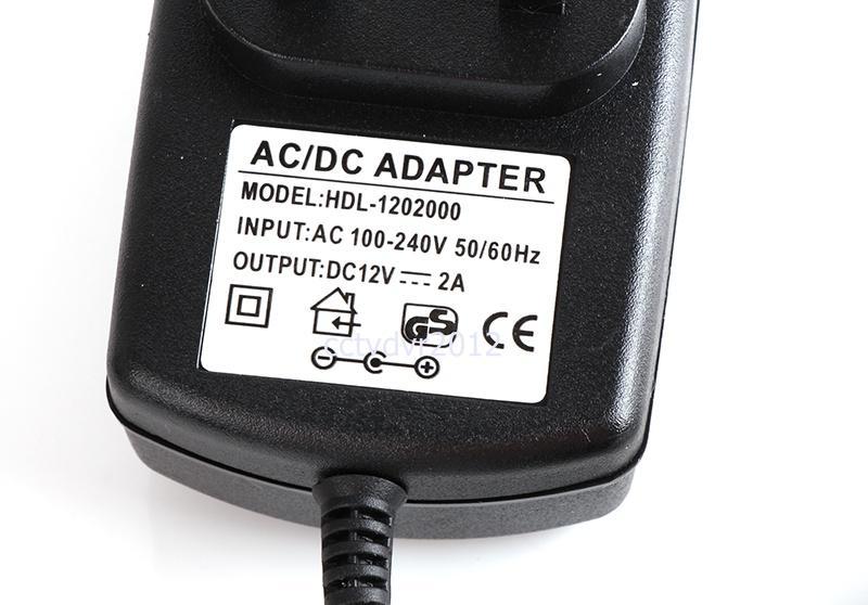 CCTVカメラシステム、EU / US / UK / AUプラグのためのDC 12V 2A電源アダプタへの適格AC 110-240V