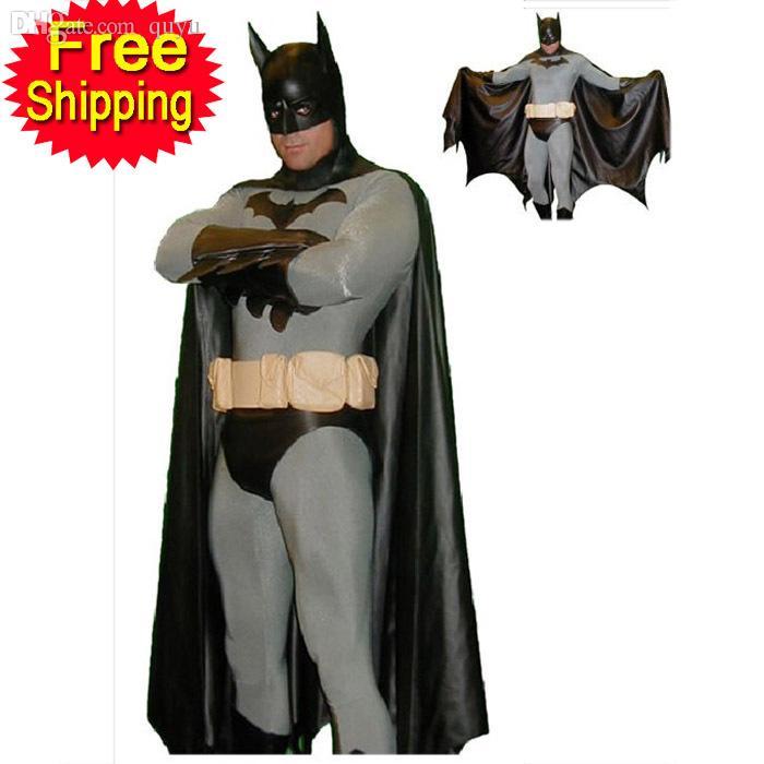 Wholesale Batman Costume Adult Men Halloween Costumes For Men Black Bodysuit Zentai Cape Mask Carnival Superhero Cosplay Costume Custom Inuyasha Cosplay ...  sc 1 st  DHgate.com & Wholesale Batman Costume Adult Men Halloween Costumes For Men Black ...