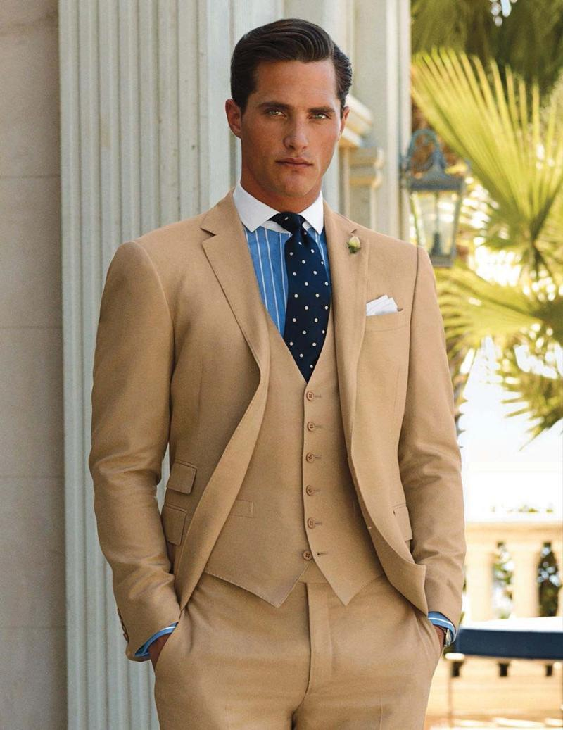 Beige Mens Suits - Suit La