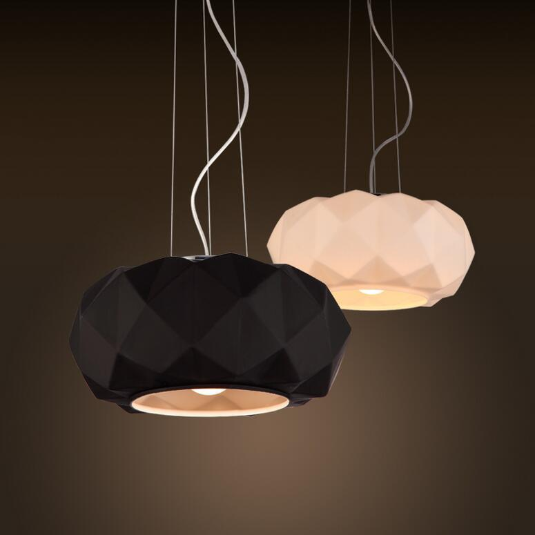 Best of Modern Diamond Pendant Lamp Murano Deluxe Black White Glass Pendant Light Dining Room Lighting Fixture Fashion Home Decor Lighting At Home Silver Pendant Minimalist - Beautiful small lantern pendant light HD