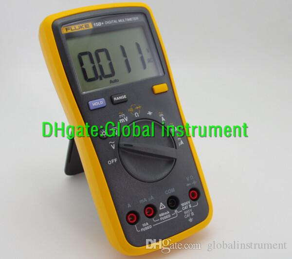 FLUKE 15B+ Digital multimeter Tester DMM with TL75 test leads F15B+