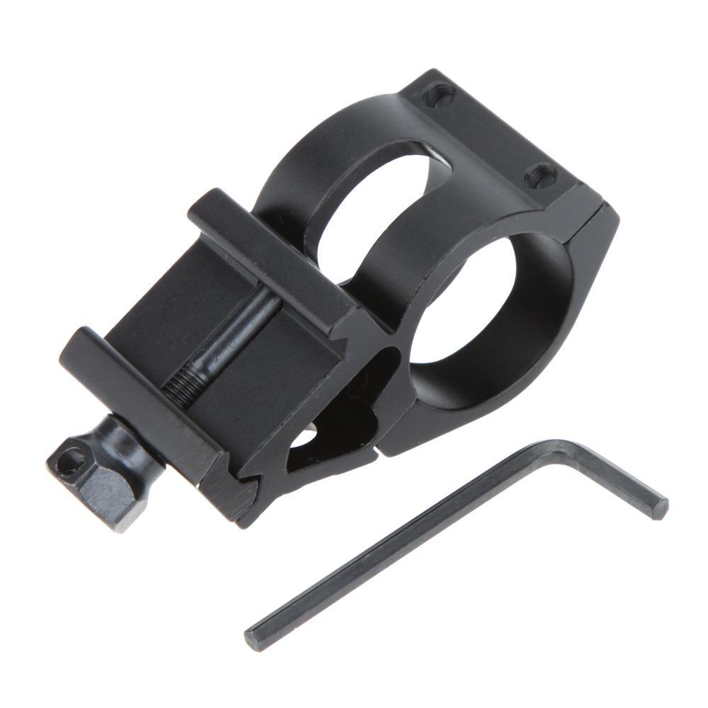 야외 전술 범위 손전등 토치 사냥 도구 렌치와 레일 마운트 25.4mm 반지