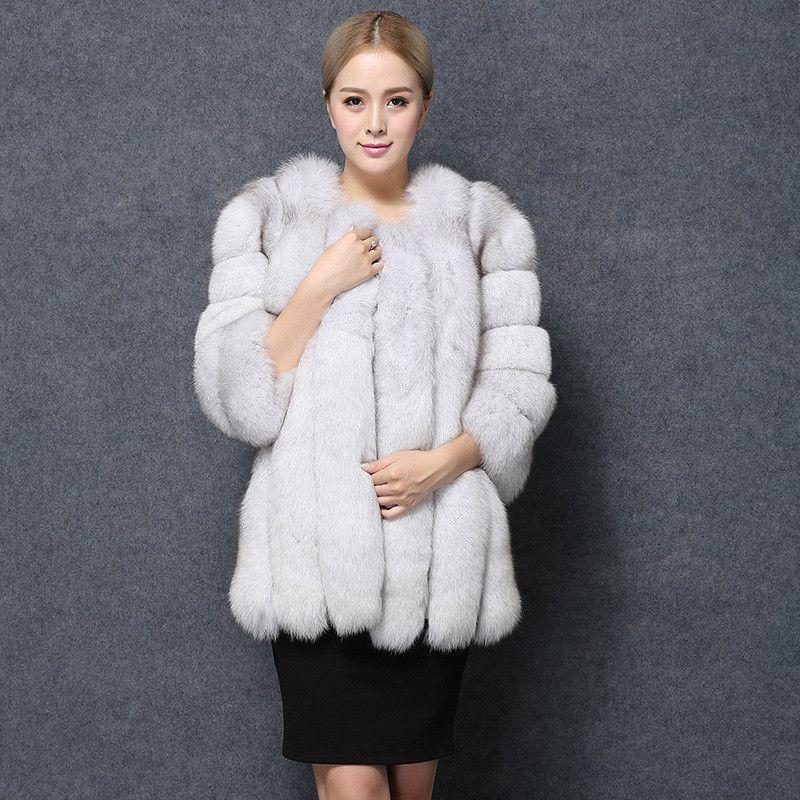 Compre Mujeres Al Por Mayor Moda De Las Mujeres Pink Faux Abrigo De Piel De  Zorro Largo Estilo Abrigos De Invierno Y Chaquetas Lady Fur Overcoat Lujo  ... 47802528e5d4