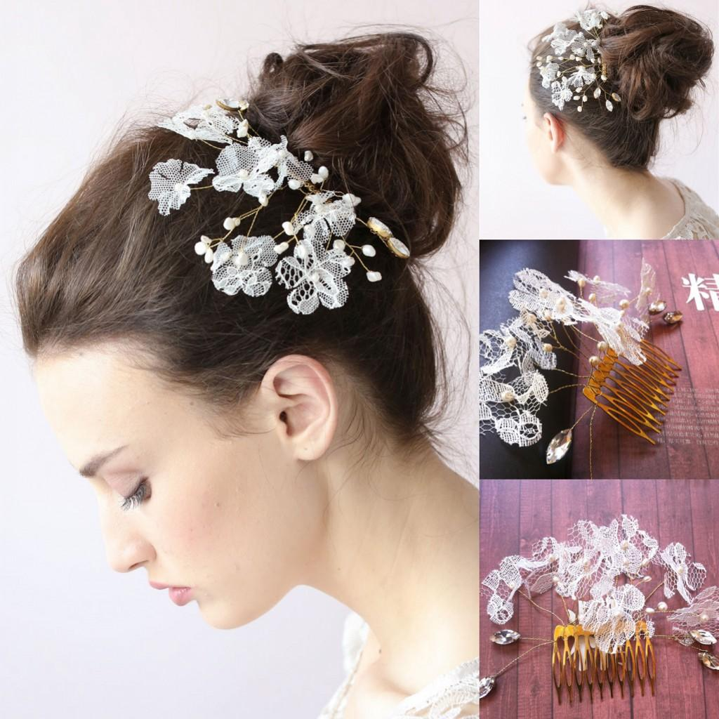 Hair accessories wedding cheap - In Stock High Quality Wedding Hair Accessories Beading Sequins Bridal Hair Accessories Fashion Hot Sale New Arrival Cap101 Cheap Accessories Wedding Comb