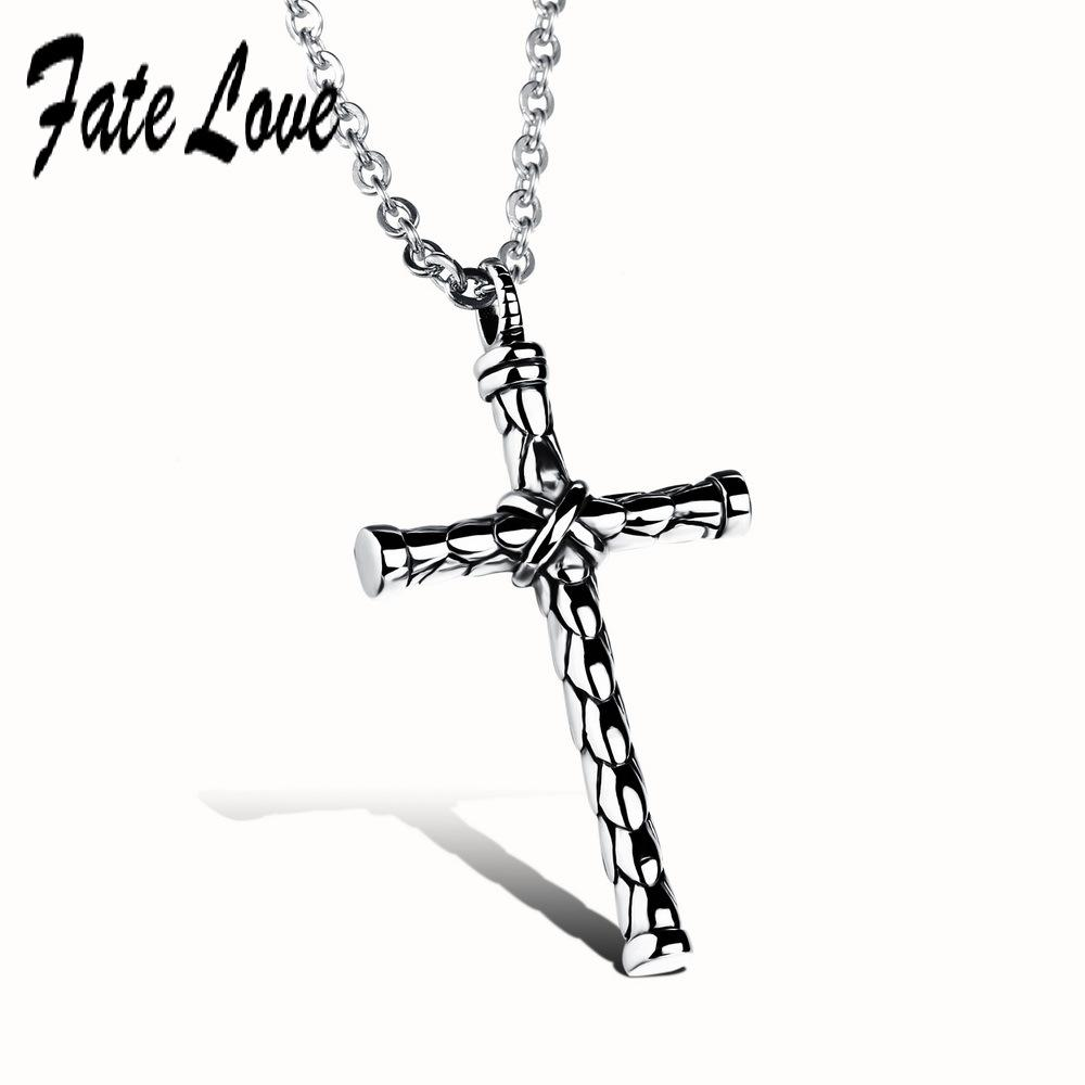 Wholesale rock 316l stainless steel cross necklace famous brand wholesale rock 316l stainless steel cross necklace famous brand silver chain men cross pendant necklaces perfect design fl973 gold necklace for women aloadofball