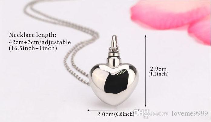 Hot sale High quality openable 316L Stainless Steel Love Cremation Memorial Jewelry Ash Urns Heart Lockets Pendant Necklace Urns Jewelry