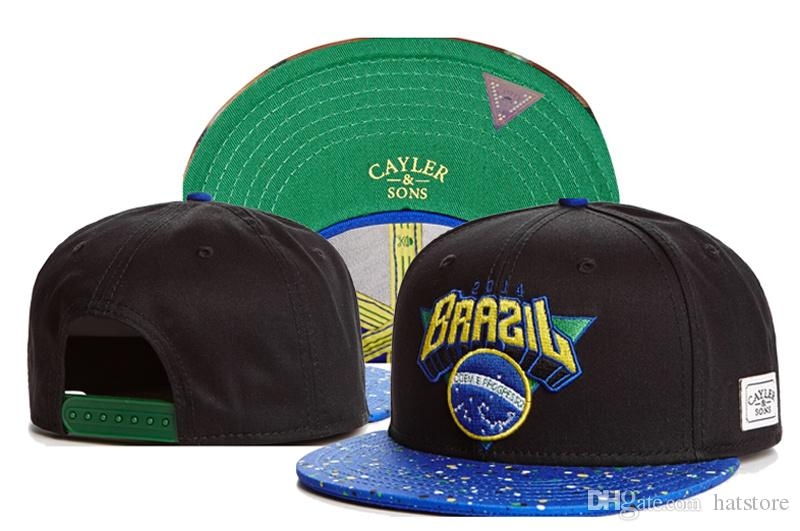 Hot Sale Black Blue BRAZIL Cayler & Sons Snapbacks adjustable Hat Hiphop Baseball Cap Street Hats Cheap Sports Ball Caps TYMY 48