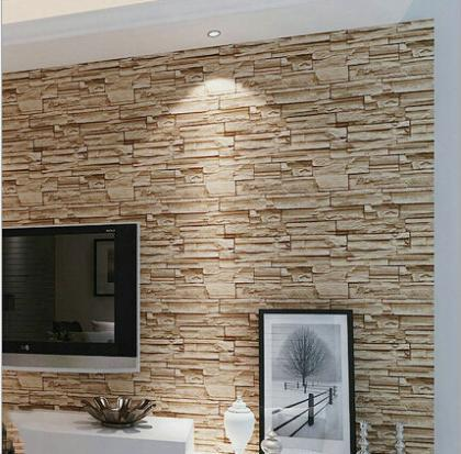 D Pvc Modern Brick Wallpaper For Living RoomVintage Brick - 3d brick wallpaper living room