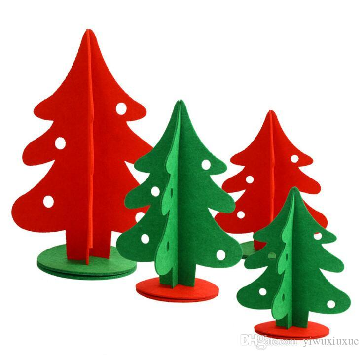 High Quality Christmas Decorations Cute Red Green Non Woven Fabrics ...