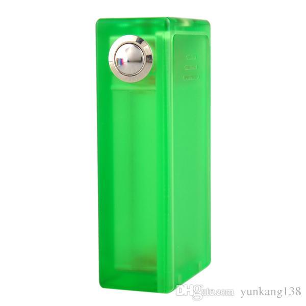 MOD della scatola della sigaretta di Mod E dell'ABS con la scatola di ABS acrilica della scatola di vaporizzatore 3.7-4.2V della luce variopinta in azione