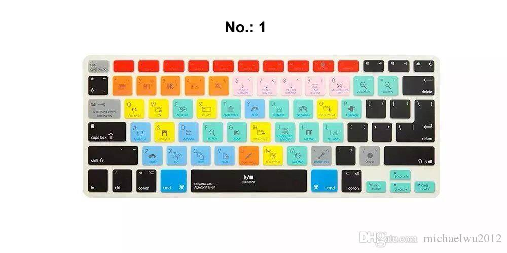 New Multi Beautyful Color Colorful Silicone US Europe Universal Keyboard Skin Cover For Apple For Macbook Pro 13 15 17 Laptop