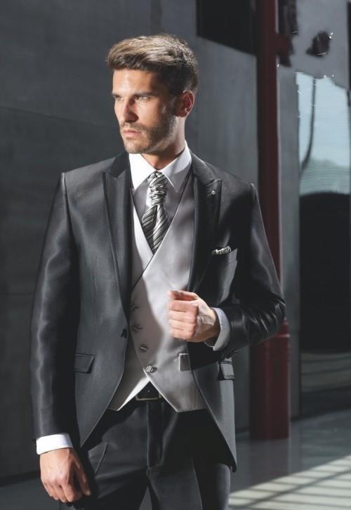 New Design Carbon Black Color As The Best Man Wedding Party Dress ...