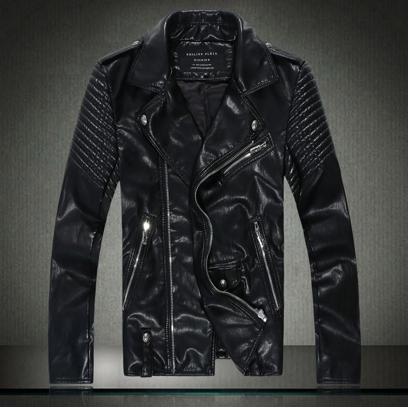Best Autumn Winter Dress Leather Jacket Men Skull Bomber Jacket ...