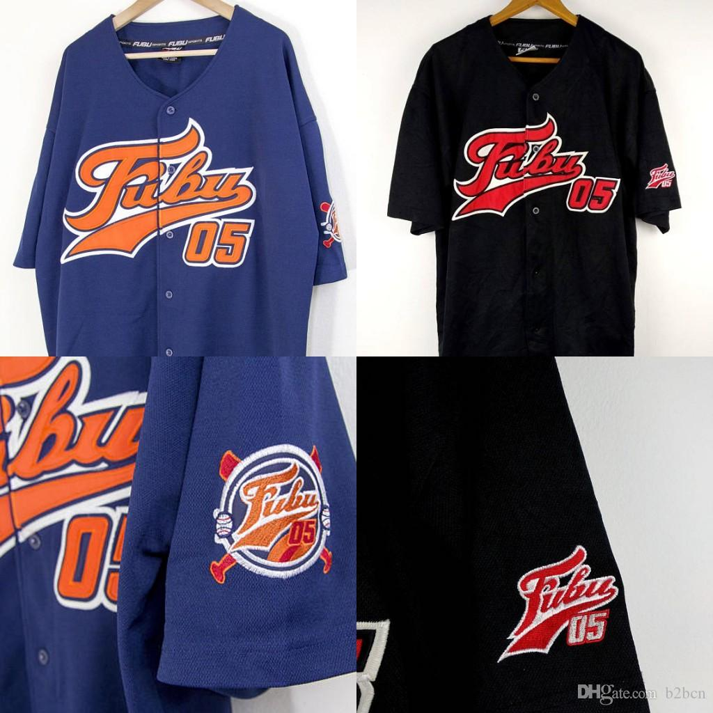 FUBU BASEBALL JERSEY Fubu 05 Collection For Us By Us Fubu Jersey Oversize  Damon John Blue Orange Black 90s All Stitched UK 2019 From B2bcn d4b784e4e887