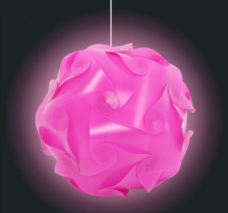 3000 stücke = 100 satz DIY Moderne Anhänger Ball Roman IQ Lampe Puzzle Anhänger Bunte Pendelleuchten 25 CM / 30 CM / 40 CM 3 größen 9 clolors