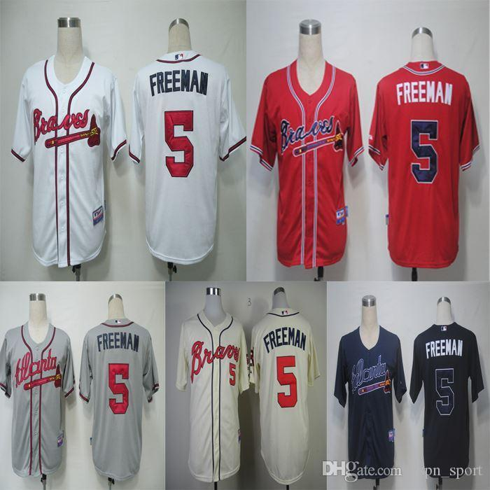 d87ad1dc005 2016 New  5 Freddie Freeman Jersey Atlanta Braves Jersey Baseball ...