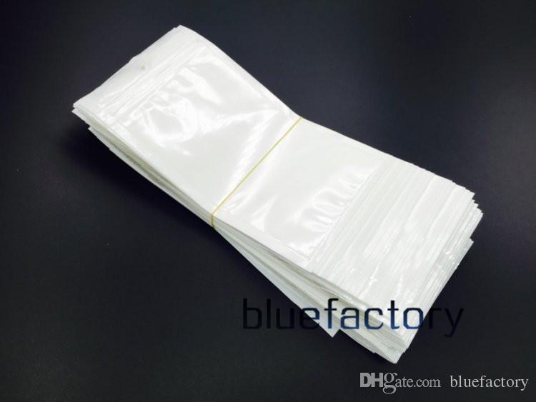 7,5 * 12 CM Klare Weiße Perle Kunststoff Schmuck Poly Taschen OPP Reißverschluss Schloss Einzelhandel Verpackung Schmuck lebensmittel PVC plastiktüte für 14 * 12 CM