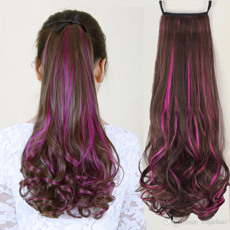 Cute Fashion Multi Color Synthetic Hair Extensions Wavy Curly