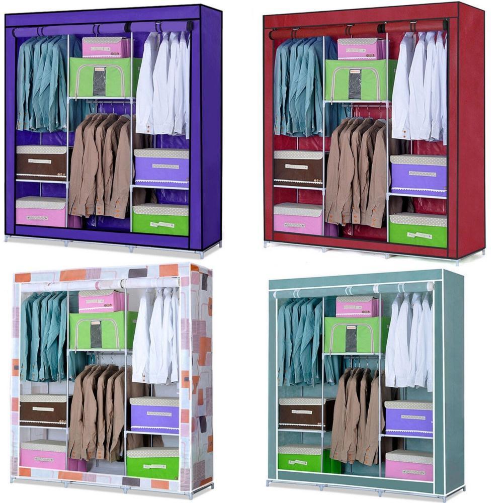 2018 ! New Portable Folding Wardrobe Closet Organizer